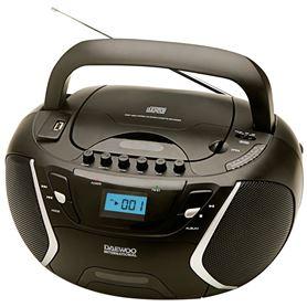 Radio CD + Cassette MP3 USB Daewoo DBU-51 negro - DAEDBF116-01_3