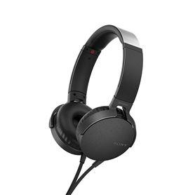 Auriculares Diadema Sony MDR-XB550APB con Manos Libres Blancos - SONY MDR-XB550APB NEGRO
