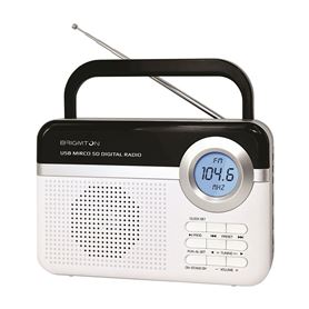 RADIO DIGITAL PLL USB/MICROSD/ALARMA BRIGMTON BLANCO - ALARMA BRIGMTON BLANCO