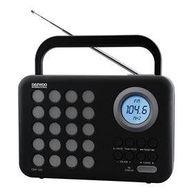 RADIO DIG. USB DAEWOO DRP-120G GRIS - DAEWOO DRP-120G GRIS