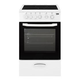 Cocina con Horno Beko CSS 48100 Vitrocerámica 3 Zonas Blanca - BEKCSS48100GW